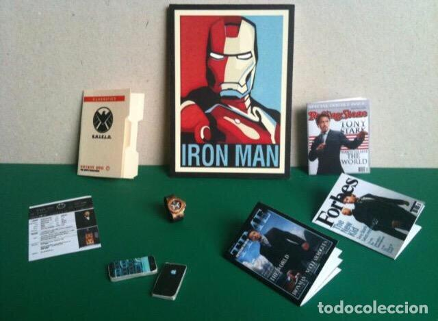 MINIATURAS 1:6 HOT TOYS IRONMAN TONY STARK (PACK 8) ESCALA IRON ONESIX MARVEL DC SUPERHÉROE BARBIE (Juguetes - Figuras de Acción - Marvel)