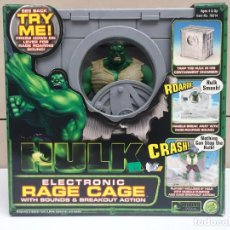 Figuras y Muñecos Marvel: HULK ELECTRONIC CAGE - HULK DENTRO DE UNA JAULA CON SONIDOS - NUEVO DE JUGUETERIA - TOY BIZ. Lote 138929102