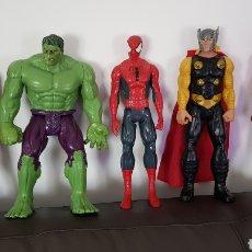 Figuras y Muñecos Marvel: LOTE DE FIGURAS SUPERHÉROES MARVEL HULK IRON MAN SPIDER-MAN THOR. Lote 141180814