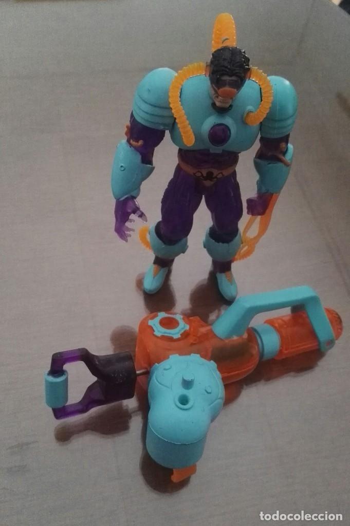 Figuras y Muñecos Marvel: dc octopus deep sea + water gun toy biz spiderman RARA - Foto 4 - 143049754