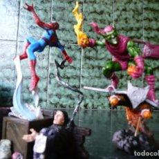 Figuras y Muñecos Marvel: 2 FIGURAS MONTABLES SPIDERMAN Y EL DUENDE VERDE (VER DETALLES). Lote 173645347