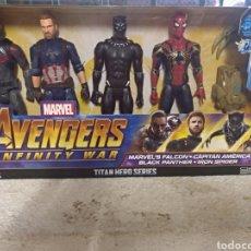 Figuras y Muñecos Marvel: AVENGERS MARVEL 4 FIGURAS DE 30CM CADA UNA SIN ABRIR. Lote 145529272