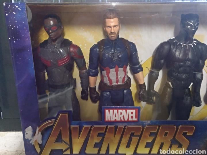 Figuras y Muñecos Marvel: Avengers Marvel 4 figuras de 30cm cada una sin abrir - Foto 3 - 145529272