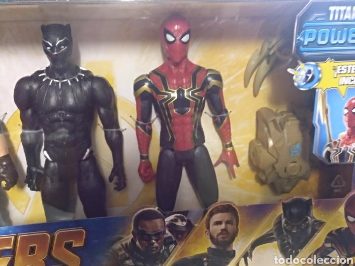 Figuras y Muñecos Marvel: Avengers Marvel 4 figuras de 30cm cada una sin abrir - Foto 4 - 145529272