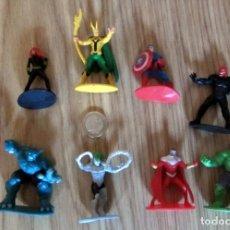 Figuras y Muñecos Marvel: 9 FIGURAS PVC MARVEL IRON MAN LOKI CAPITAN AMERICA HULK. Lote 146727982
