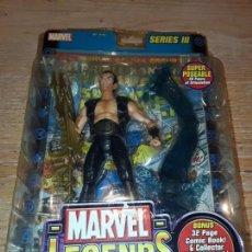 Figuras y Muñecos Marvel: MARVEL LEGENDS, NAMOR EN BLISTER ,CON COMIC, TOY BIZ, FAMOSA.. Lote 146733382