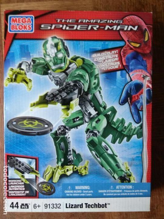 LIZARD TECHBOT, THE AMAZING SPIDER-MAN - MEGA BLOKS 2012 - SIN ABRIR SIN USO- 25 CENTIMETROS (Juguetes - Figuras de Acción - Marvel)