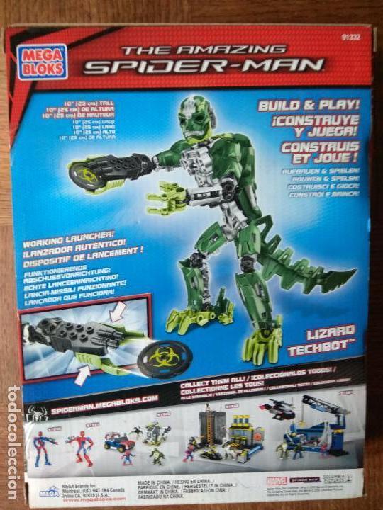 Figuras y Muñecos Marvel: LIZARD TECHBOT, THE AMAZING SPIDER-MAN - MEGA BLOKS 2012 - SIN ABRIR SIN USO- 25 CENTIMETROS - Foto 3 - 149851238