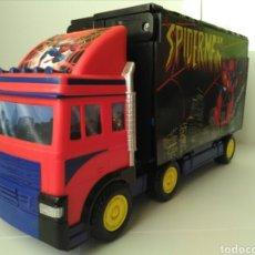 Figuras y Muñecos Marvel: CAMIÓN MARVEL HEROES SUPER TRUCK SPIDERMAN. Lote 151713073