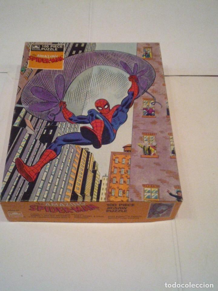 SPIDERMAN - PUZLE ORIGINAL MARVEL - AÑOS 80 -BUEN ESTADO - COMPLETO - GORBAUD (Juguetes - Figuras de Acción - Marvel)