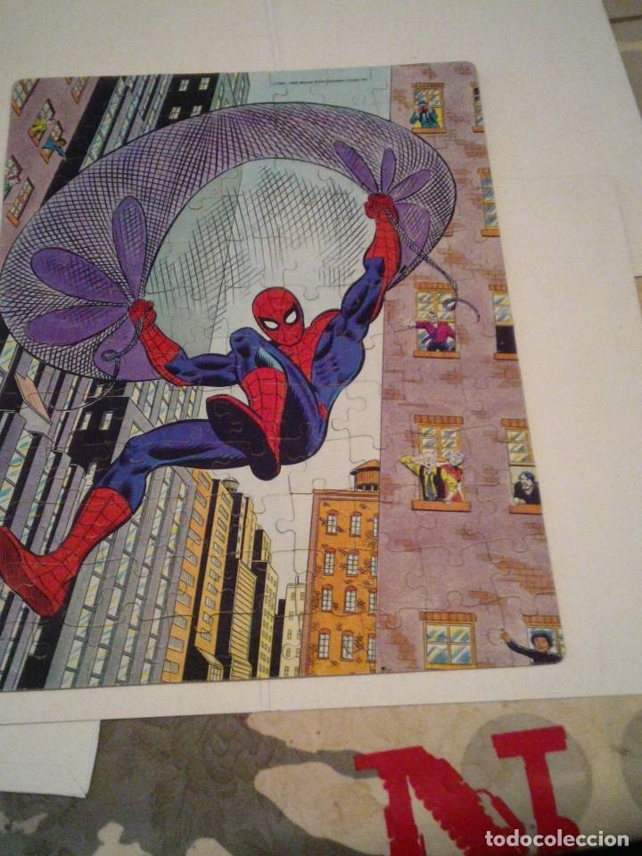 Figuras y Muñecos Marvel: SPIDERMAN - PUZLE ORIGINAL MARVEL - AÑOS 80 -BUEN ESTADO - COMPLETO - GORBAUD - Foto 7 - 155368842