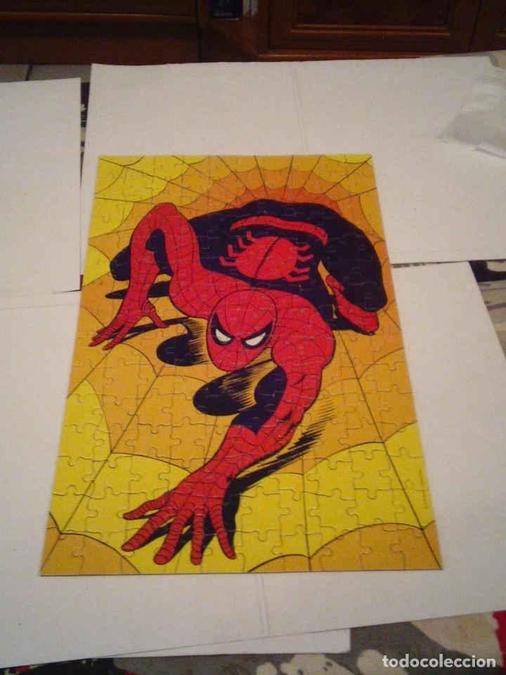 Figuras y Muñecos Marvel: SPIDERMAN - PUZLE ORIGINAL MARVEL - AÑOS 80 -BUEN ESTADO - COMPLETO - GORBAUD - Foto 6 - 155368930