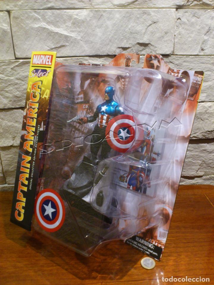 Figuras y Muñecos Marvel: MARVEL - DIAMOND SELECT - CAPITAN AMERICA - CAPTAIN - SPECIAL COLLECTOR EDITION - FIGURA - NUEVO - Foto 10 - 156104698