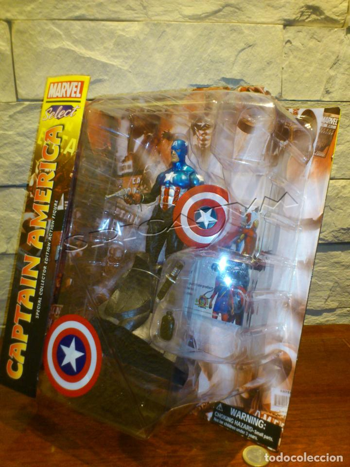 Figuras y Muñecos Marvel: MARVEL - DIAMOND SELECT - CAPITAN AMERICA - CAPTAIN - SPECIAL COLLECTOR EDITION - FIGURA - NUEVO - Foto 11 - 156104698