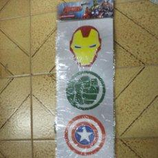 Figuras y Muñecos Marvel: ADHESIVOS PARA VENTANA.LOS VENGADORES DE MARVEL.IRON MAN,HULK,THOR Y CAPITÁN AMÉRICA.11,5 CM.. Lote 159332138