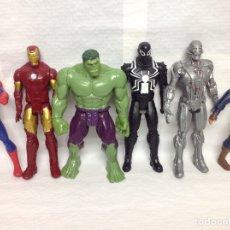 Figuras y Muñecos Marvel: HULK Y 5 IRON MAN MARVEL / HASBRO. Lote 162812522