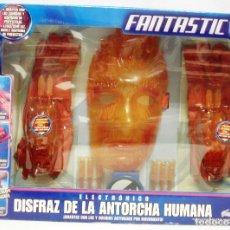 Figuras y Muñecos Marvel: DISFRAZ DE LA ANTORCHA HUMANA FANTASTIC 4 MARVEL FAMOSA,NUEVO Y ORIGINAL. Lote 165554942