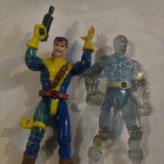 Figuras y Muñecos Marvel: 2 FIGURAS X MEN TYCO ICEMAN Y OTRA FORJA O FORGE. Lote 165941086
