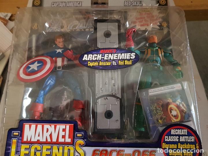 FIGURA MARVEL LEGENDS FACE-OFF EN BLISTER CAPTAIN AMÉRICA (Juguetes - Figuras de Acción - Marvel)