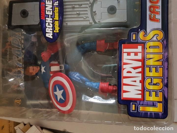 Figuras y Muñecos Marvel: Figura Marvel Legends Face-Off en blister Captain América - Foto 2 - 166666386