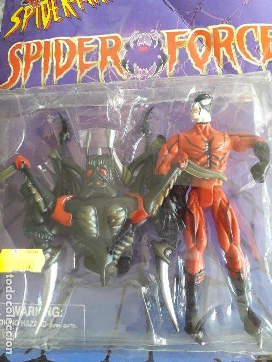 MUÑECO PVC SERIE SPIDERMAN SPIDER FORCE TARANTULA ARTICULADO 14 CM LEER DESCRIPCION (Juguetes - Figuras de Acción - Marvel)