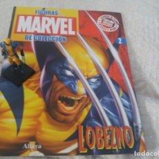 Figuras y Muñecos Marvel: MARVEL SUPER HEROES FIGURA PLOMO LOBEZNO CON FASCÍCULO N 2 ALTAYA. Lote 168300924