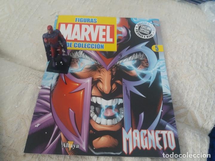 MARVEL SUPER HEROES FIGURA PLOMO MAGNETO CON FASCÍCULO N 5 ALTAYA (Juguetes - Figuras de Acción - Marvel)
