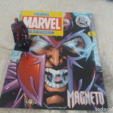 Figuras y Muñecos Marvel: MARVEL SUPER HEROES FIGURA PLOMO MAGNETO CON FASCÍCULO N 5 ALTAYA. Lote 168301248