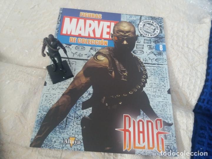 MARVEL SUPER HEROES FIGURA PLOMO BLADE CON FASCÍCULO N 8 ALTAYA (Juguetes - Figuras de Acción - Marvel)