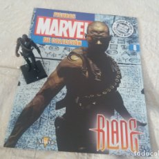 Figuras y Muñecos Marvel: MARVEL SUPER HEROES FIGURA PLOMO BLADE CON FASCÍCULO N 8 ALTAYA. Lote 168301344