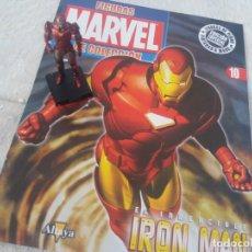 Figuras y Muñecos Marvel: MARVEL SUPER HEROES FIGURA PLOMO IRON MAN CON FASCÍCULO N 10 ALTAYA. Lote 168301480