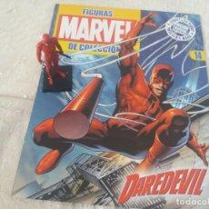 Figuras y Muñecos Marvel: MARVEL SUPER HEROES FIGURA PLOMO DAREDEVIL CON FASCÍCULO N 14 ALTAYA. Lote 168301808