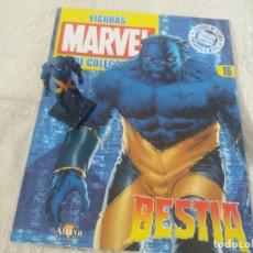 Figuras y Muñecos Marvel: MARVEL SUPER HEROES FIGURA PLOMO BESTIA CON FASCÍCULO N 16 ALTAYA. Lote 168301896
