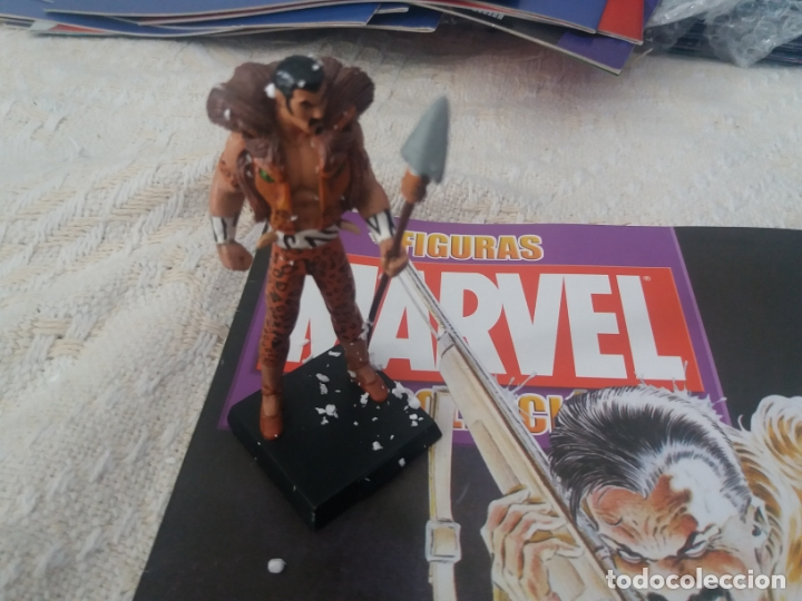 Figuras y Muñecos Marvel: MARVEL SUPER HEROES FIGURA PLOMO KRAVEN EL CAZADOR CON FASCÍCULO N 23 ALTAYA - Foto 2 - 168301976