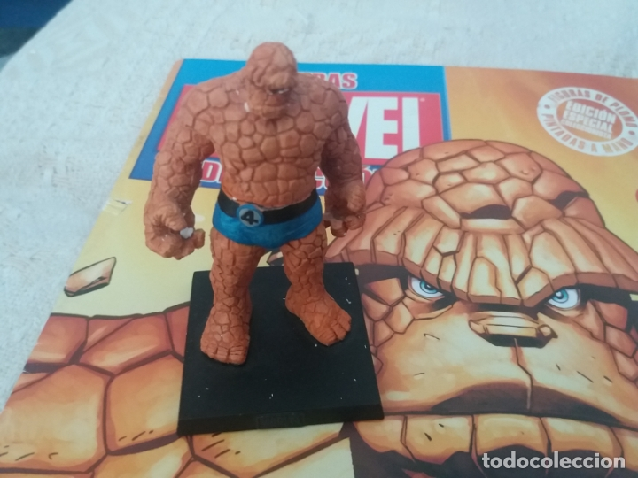 Figuras y Muñecos Marvel: MARVEL SUPER HEROES FIGURA PLOMO LA COSA CON FASCÍCULO N 4 ALTAYA - Foto 2 - 168302652