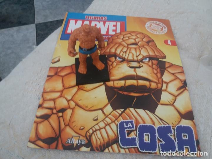 MARVEL SUPER HEROES FIGURA PLOMO LA COSA CON FASCÍCULO N 4 ALTAYA (Juguetes - Figuras de Acción - Marvel)