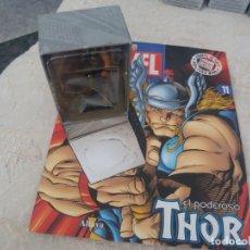 Figuras y Muñecos Marvel: MARVEL SUPER HEROES FIGURA PLOMO THOR BLISTER CON FASCÍCULO N 11 ALTAYA. Lote 168302864
