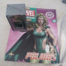 Figuras y Muñecos Marvel: MARVEL SUPER HEROES FIGURA PLOMO POLARIS BLISTER CON FASCÍCULO N 53 ALTAYA. Lote 168303568
