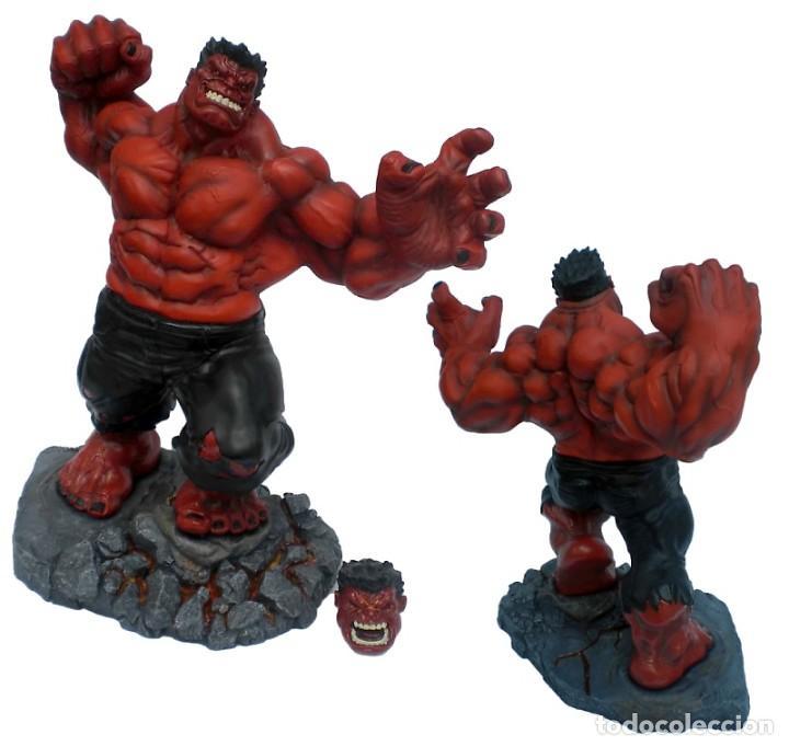 Figuras y Muñecos Marvel: RED HULK KOTOBUKIYA DESCATALOGADO MUY BUSCADO ESTADO MUY BUENO COMO NUEVO - Foto 2 - 169734168