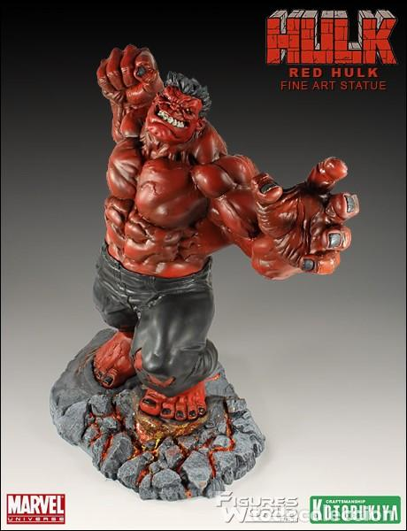 Figuras y Muñecos Marvel: RED HULK KOTOBUKIYA DESCATALOGADO MUY BUSCADO ESTADO MUY BUENO COMO NUEVO - Foto 4 - 169734168