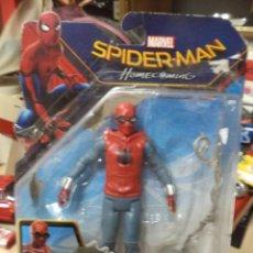 Figuras y Muñecos Marvel: SPIDERMAN.FIGURA ARTICULADA CON EL TRAJE ORIGINAL CASERO.HASBRO.. Lote 169928292