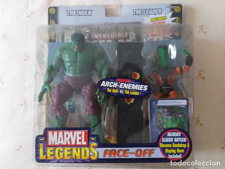 MARVEL LEGENDS HULK LEADER LIDER FACE OFF PACK TOYBIZ (Juguetes - Figuras de Acción - Marvel)
