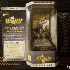 Figuras y Muñecos Marvel: FIGURA - COMIC BOOK CHAMPIONS - 1997 - FINE PEWTER FIGURE OF SPIDER-MAN 1962 - SPIDERMAN DE PLOMO. Lote 172859445