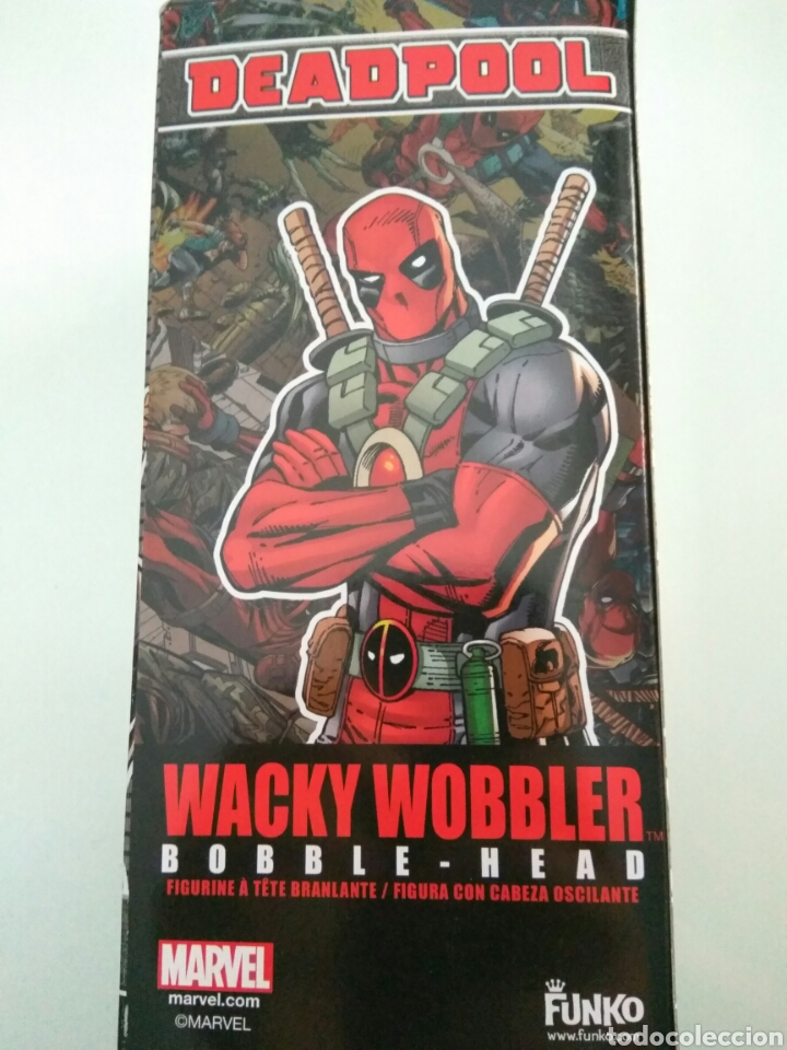 Figuras y Muñecos Marvel: Figura Funko wacky wobbler Deadpool Marvel nuevo - Foto 3 - 175237810