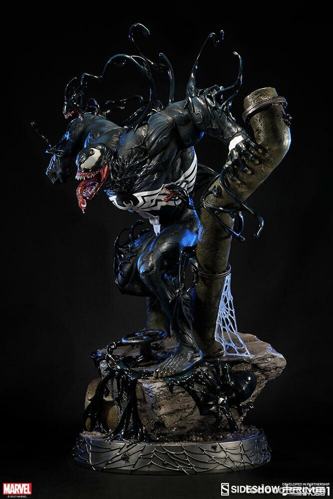 Figuras y Muñecos Marvel: VENOM PRIME 1 STUDIO ESTADO NUEVO IMPRESIONANTE LA MEJOR FIGURA DE VENOM ENORME NEGOCIABLE - Foto 3 - 175469249