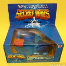 Figuras y Muñecos Marvel: MARVEL SECRET WARS. VEHÍCULO TURBO CYRCLE PARA 2 FIGURAS. CON SONIDO Y MAS COSAS!!!AÑOS 80. Lote 176410214