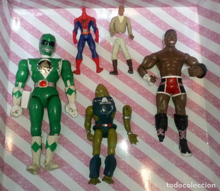LOTE DE 5 FIGURAS CON DEFECTOS, POWER RANGERS,STAR WARS,MARVEL,WWE,MASTERS DEL UNIVERSO, PARA PIEZAS (Juguetes - Figuras de Acción - Marvel)