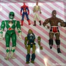 Figuras y Muñecos Marvel: LOTE DE 5 FIGURAS CON DEFECTOS, POWER RANGERS,STAR WARS,MARVEL,WWE,MASTERS DEL UNIVERSO, PARA PIEZAS. Lote 178031730