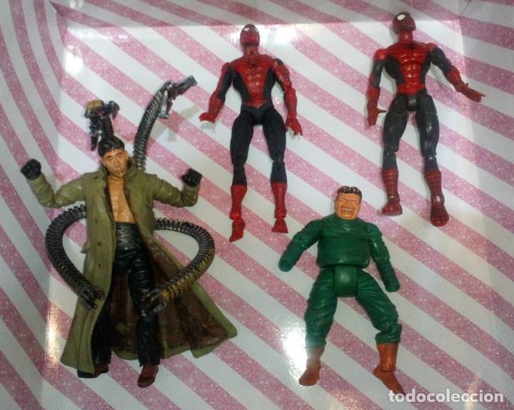LOTE DE 4 FIGURAS MARVEL CON DEFECTOS, 2 SPIDERMAN Y 2 DR. OCTOPUS, PARA PIEZAS O REPARAR (Juguetes - Figuras de Acción - Marvel)