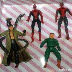 Figuras y Muñecos Marvel: LOTE DE 4 FIGURAS MARVEL CON DEFECTOS, 2 SPIDERMAN Y 2 DR. OCTOPUS, PARA PIEZAS O REPARAR. Lote 178032327